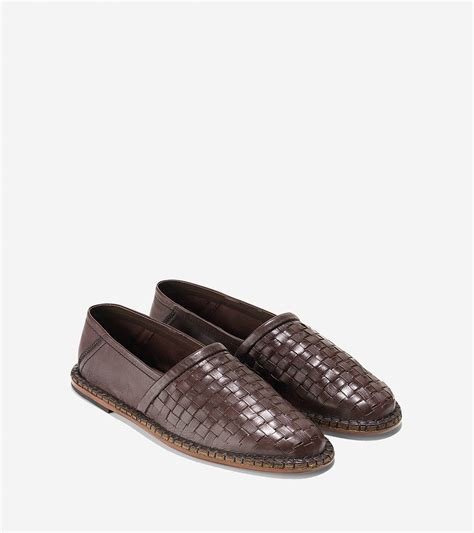 woven loafer lyst cole haan camden woven loafer in brown for