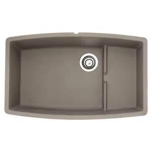 Blanco Undermount Kitchen Sinks Shop Blanco Performa Truffle Basin Undermount Kitchen Sink At Lowes
