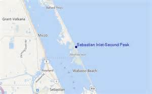 sebastian inlet florida map sebastian inlet second peak surf forecast and surf reports
