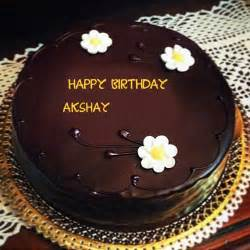 beautiful flowers with chocolate birthday akshay name wishes cakes pix
