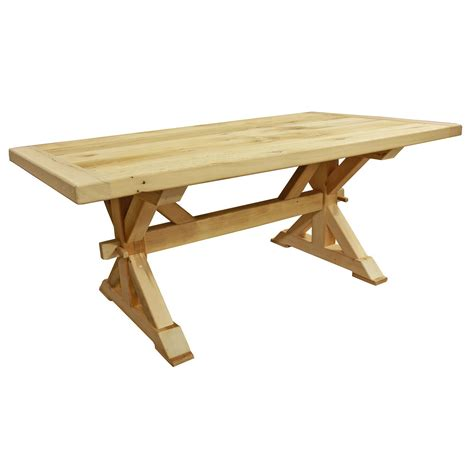 amish reclaimed wood trestle dining room table lancaster