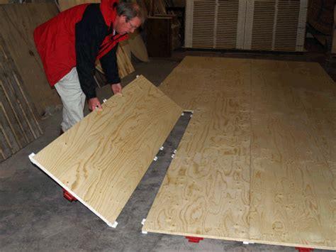 plywood floor on grass temporary modular portable