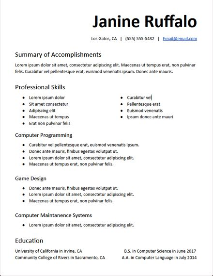 Google Docs Resume Templates Free To Download Hirepowers 183 Net College Resume Template Docs