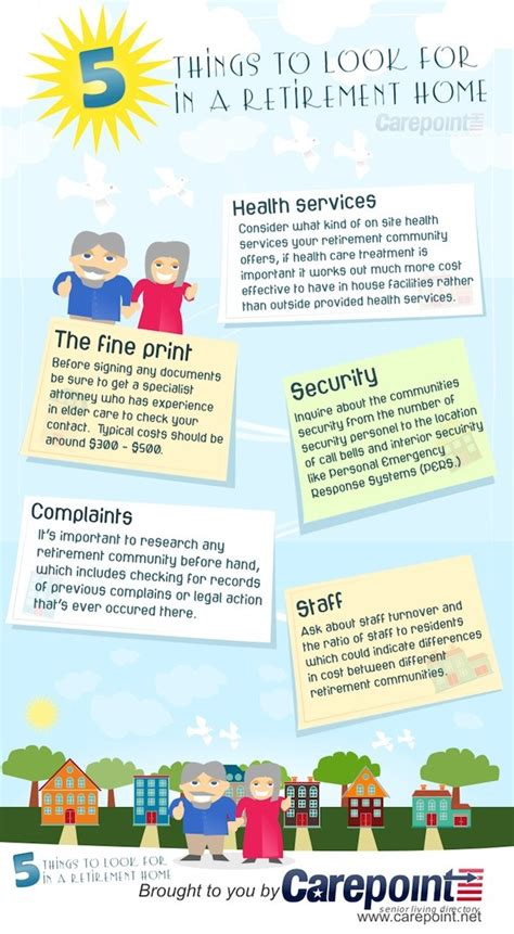 5 Lists To Look by 5 Things To Look For In A Retirement Home Infographic