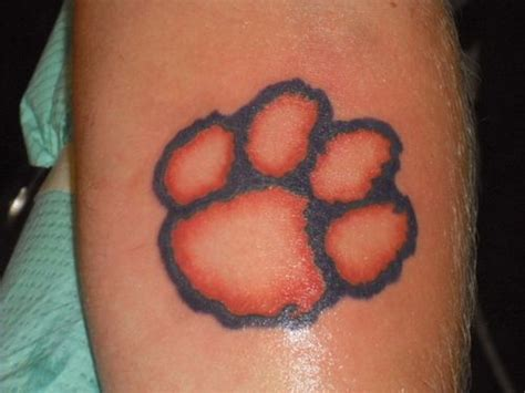 clemson tattoo clemson design clemson paw picture at