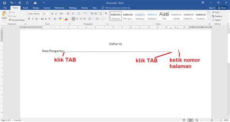 cara membuat titik daftar isi agar rata cara membuat daftar isi yang rata dan rapi caramahaku