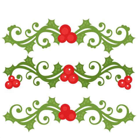 christmas flourish set scrapbook cut file cute clipart