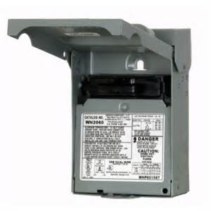 siemens 60 amp non fusible outdoor ac disconnect