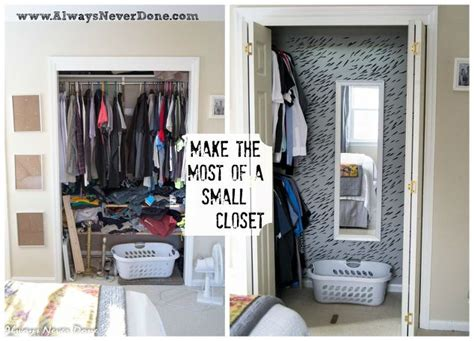 how to organize a small bedroom closet make the most out of a small closet hometalk