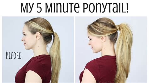 how to do ponytail hairstyles hair is our crown my 5 minute ponytail routine youtube