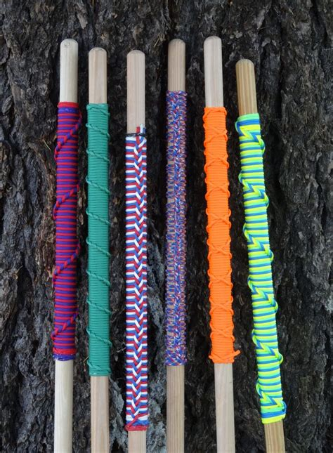 assorted hiking staffs  paracord   approximately  grips  strand saint mary