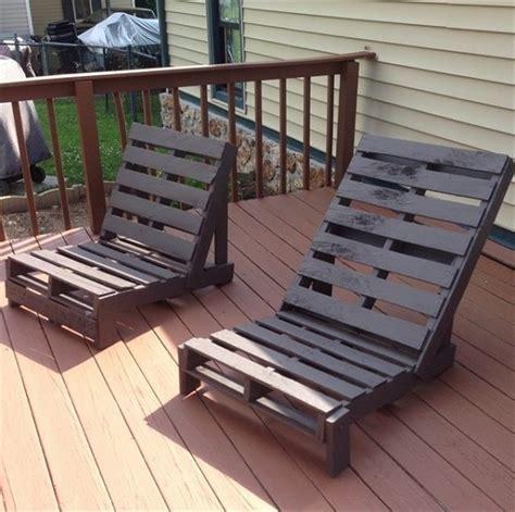 Handmade Pallet Furniture - diy pallet lounge chair home design garden