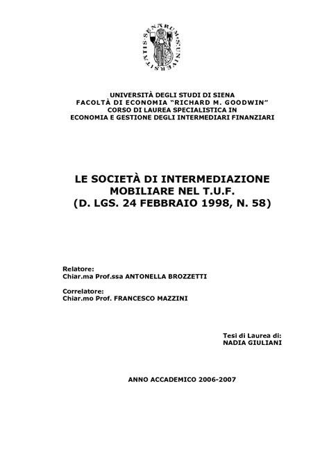 societa di intermediazione mobiliare anteprima tesi le societ 224 di intermediazione mobiliare