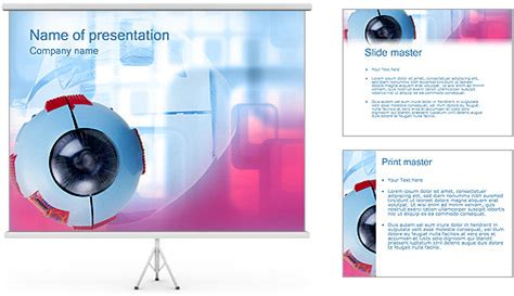 ophthalmology template eye model powerpoint template backgrounds id 0000000047