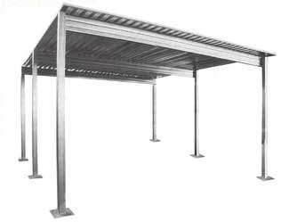 Home Design Palisades Center by Steel Single Slope Carport