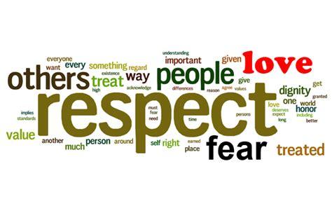 love respect love respect fear cerebrations