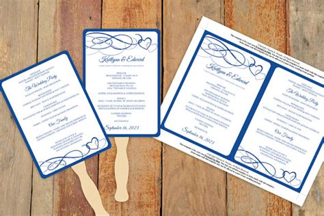 diy wedding program fan template diy wedding fan program template by karmakweddings