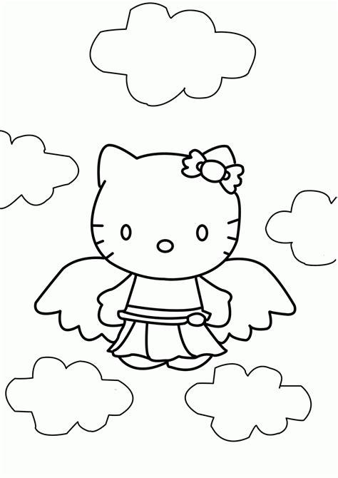 hello kitty angel coloring pages free coloring pages of angel hello kitty