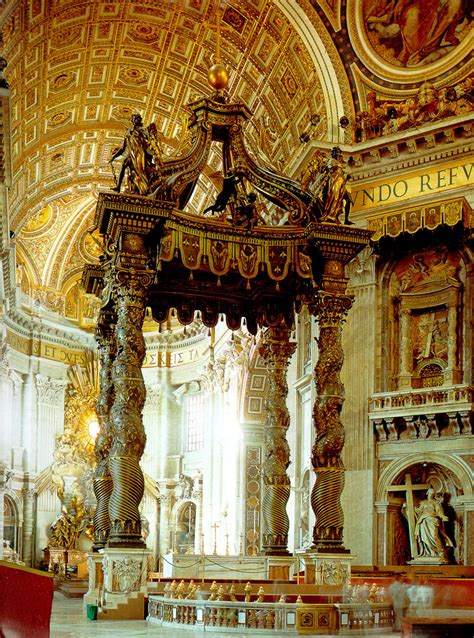 bernini baldacchino lea stephenson week 11 bernini impresario of the