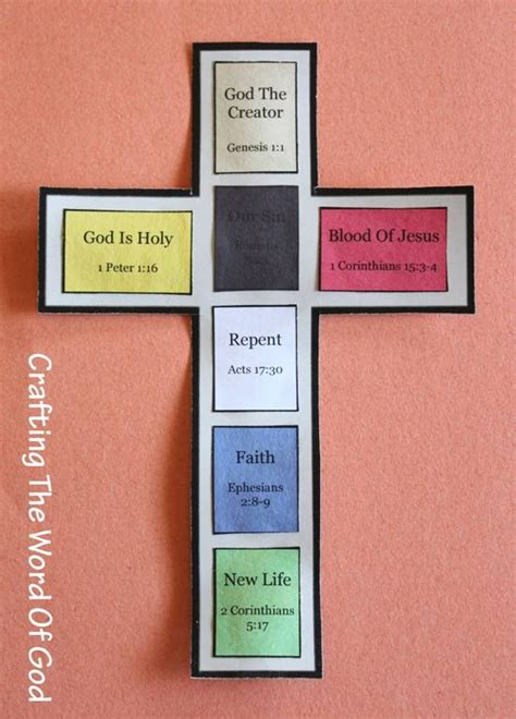 color of the cross jungle jaunt bible crafts 171 crafting the word of god