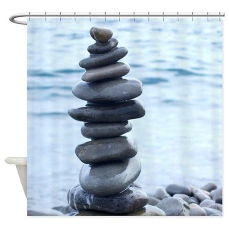 Zen Stone Tower Shower Curtain by InspirationzStore