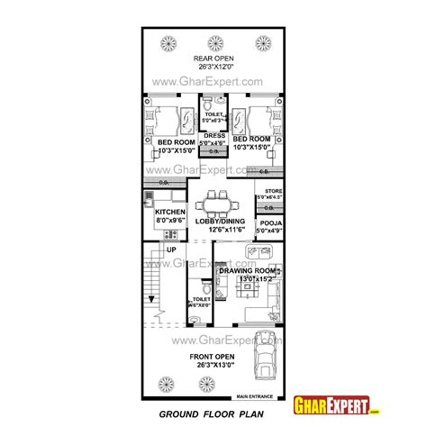 design expert half normal plot house plan for 27 feet by 70 feet plot plot size 210