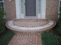 brick front veranda schritte curved brick step idea for entrance to kitchen in
