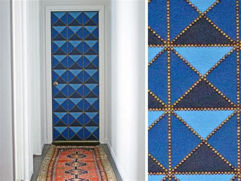 Decorative Tacks For Upholstery How To Make A Geometric Upholstered Door Hgtv