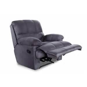 fauteuil relax microfibre gris