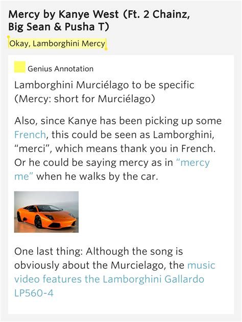okay lamborghini mercy mercy lyrics meaning
