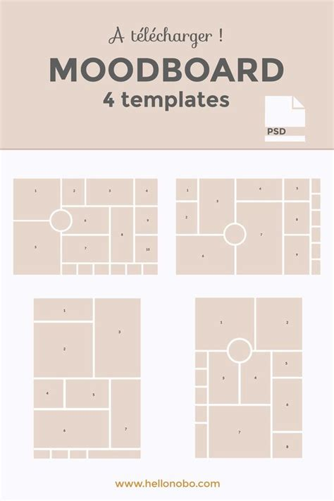moodboard template comment cr 233 er une moodboard 4 mod 232 les 224 t 233 l 233 charger