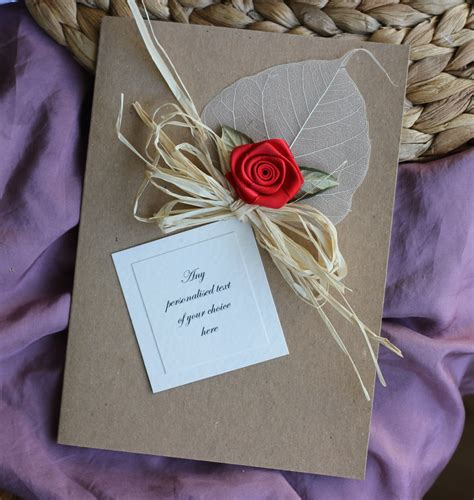 Handmade Cards For Husband - handmade flower card for boyfriends xc