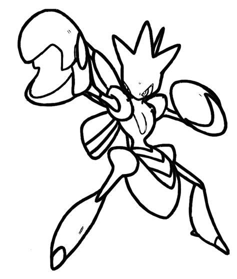 pokemon coloring pages blaziken pokemon scizor coloring pages coloring home