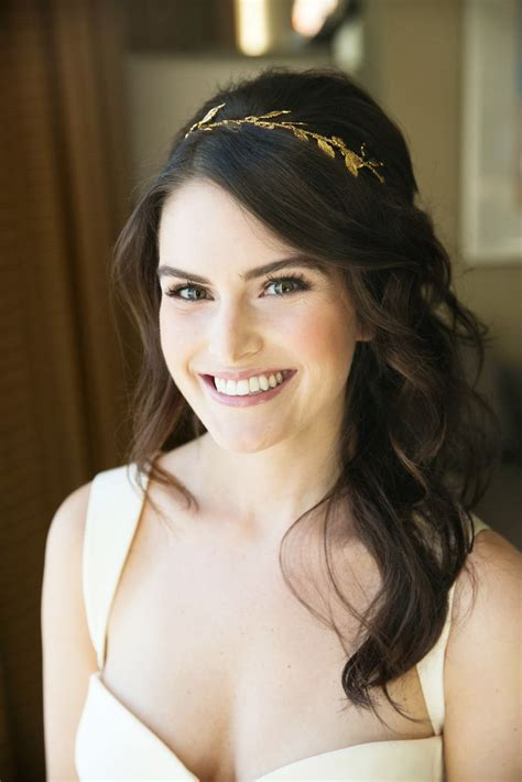 Vintage Wedding Hairstyles With A Headband by Half Updo With Waves