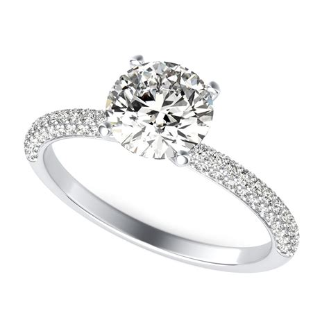 Ring With Diamonds Around It by Engagement Ring Cut Sku Rd0023 90210