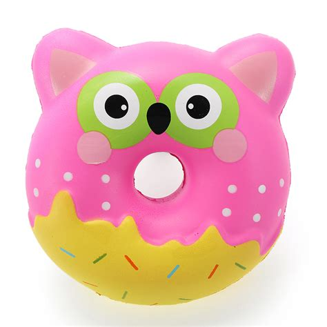 squishy factory owl donut 10cm soft rising with packaging collection gift decor alex nld