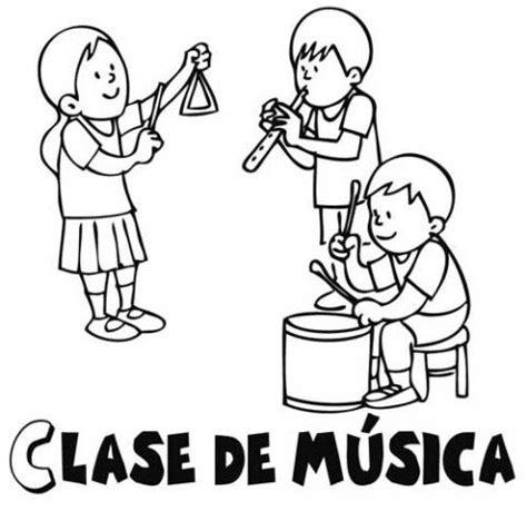 imagenes para pintar musica dibujos gratis de clase de m 250 sica para colorear con ni 241 os