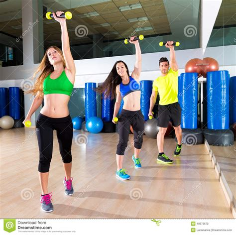 video tutorial zumba fitness zumba dance cardio people group at fitness gym stock photo