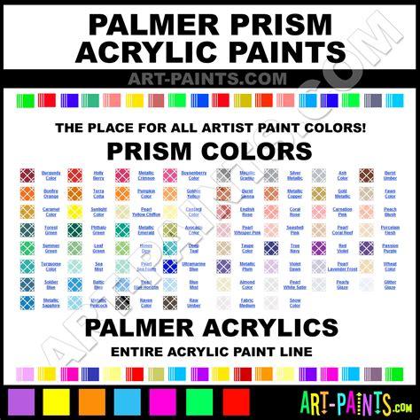 palmer prism acrylic paint colors palmer prism paint colors prism color prism acrylics