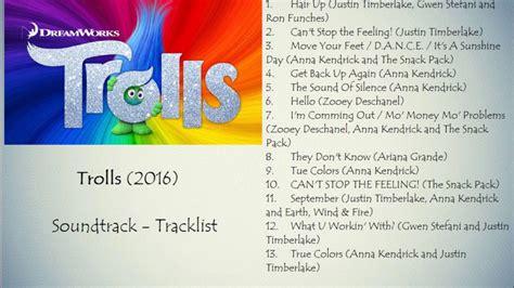 soundtrack list trolls 2016 soundtrack tracklist