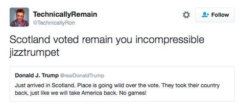 best tweeter best responses to from scotland democratic