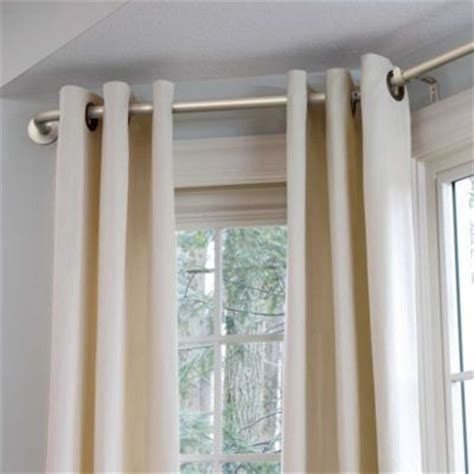 curtains rods for bay windows bay window curtain rod window treatments curtains and