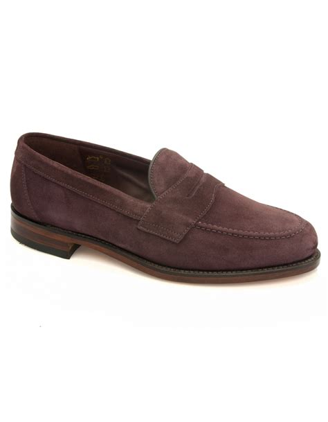 loake suede loafers eton suede saddle loafer plum suede