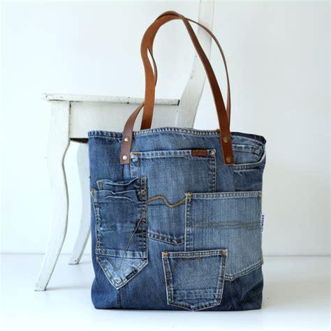 Tas Simple Bag Tote Bag denim canvas tote bag with lots of pockets bag