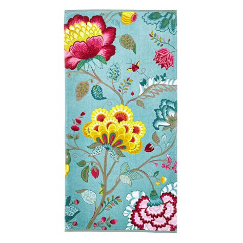 floral towels for the bathroom buy pip studio floral fantasy towel light petrol bath