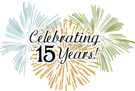 15th anniversary 15th anniversary