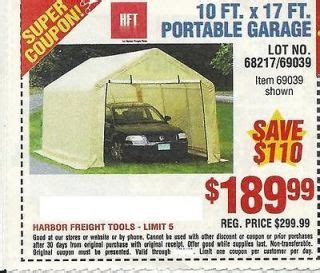 10 X 17 Portable Garage by Harbor Freight Tools Prices On Popscreen