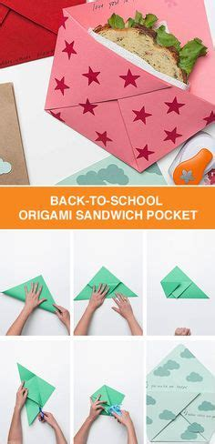 Back To School Origami - sandwiches back to school and origami on