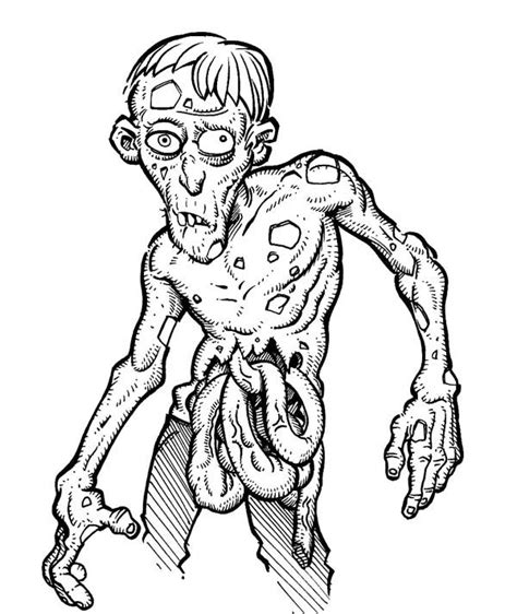 coloring pages zombie zombie coloring pages bestofcoloring com