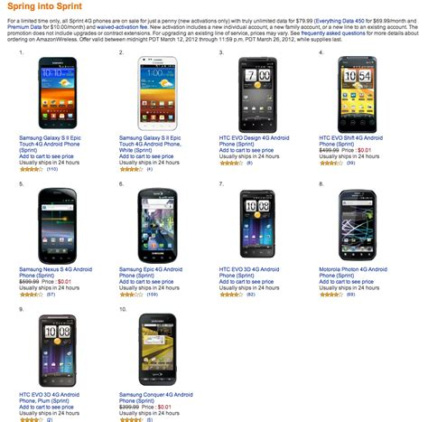 Home Design App Forum Deal Amazon Offers All Eight Sprint 4g Phones For Only
